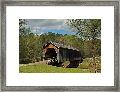 Auchumpkee Creek Covered Bridge Framed Print