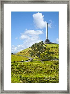 Auckland One Tree Hill Framed Print