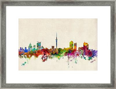 Auckland Skyline New Zealand  Framed Print