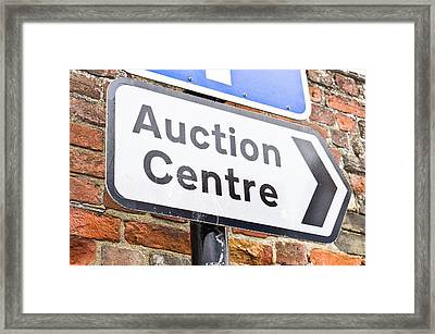 Auction Centre Framed Print by Tom Gowanlock