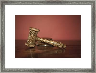 Auction Hammer Framed Print by Svetlana Sewell