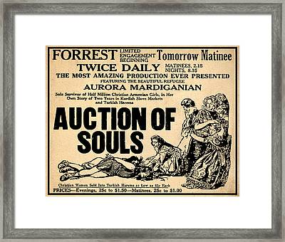 Auction Of Souls Framed Print by Bill Cannon