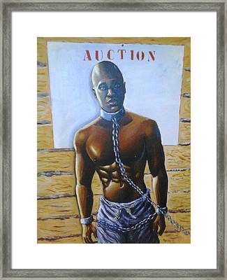 Auction Today Framed Print by Barbara Gray
