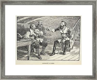 Audacity Of Kidd Framed Print by British Library
