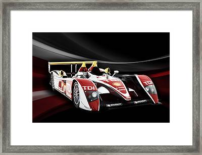 Audi R10 Framed Print by Peter Chilelli