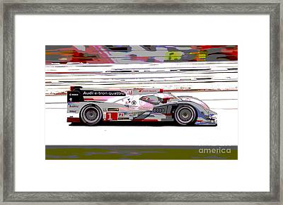 Audi R18 E-tron Framed Print by Pixelated Foto