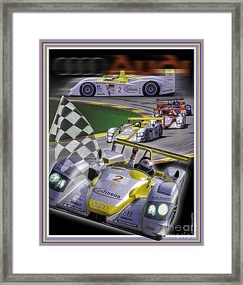 Audi R8 2005 Framed Print by Ed Dooley