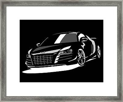 Audi R8 Framed Print by Michael Tompsett