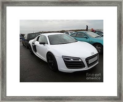 Audi R8 V10 Framed Print by Vicki Spindler