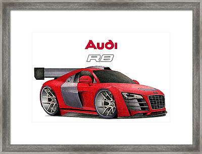 Audi Toon Framed Print by Lyle Brown