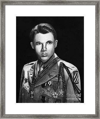 Audie Murphy Framed Print