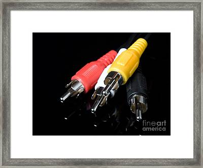 Audio And Video Cables Framed Print by Sinisa Botas