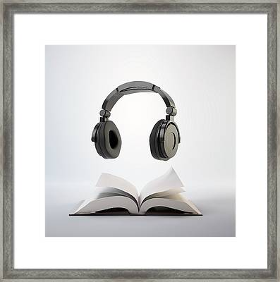 Audio Book Framed Print