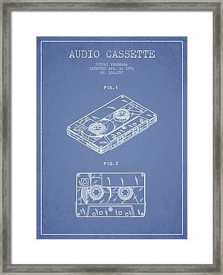 Audio Cassette Patent From 1991 - Light Blue Framed Print