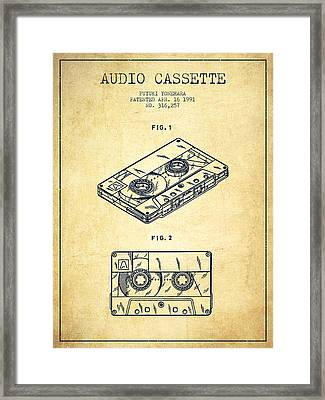 Audio Cassette Patent From 1991 - Vintage Framed Print