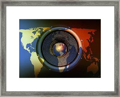 Audio World Framed Print