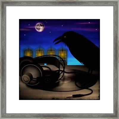 Audiophile Raven Framed Print by Milton Thompson
