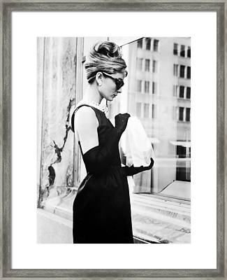 Audrey At Tiffanys Framed Print by Georgia Fowler