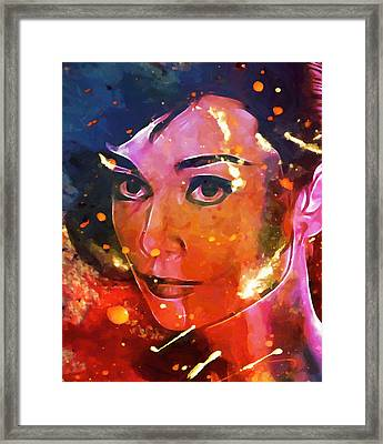 Audrey Colored My Heart Framed Print by Steve K