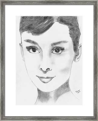 Audrey Framed Print by Dan Twyman