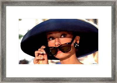 Audrey Hepburn @ Breakfast At Tiffany's Framed Print