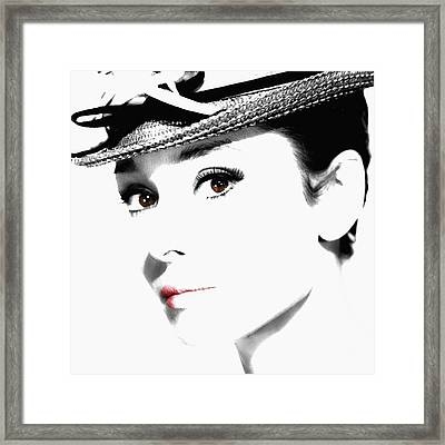 Audrey Hepburn 2 Framed Print by Andrew Fare