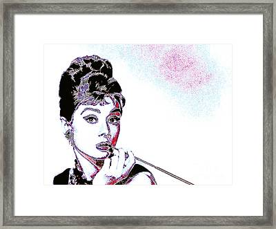 Audrey Hepburn 20130330 Framed Print by Wingsdomain Art and Photography