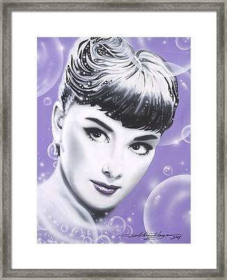Audrey Hepburn Framed Print by Alicia Hayes