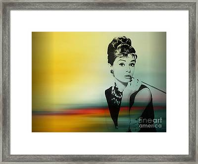 Audrey Hepburn Art Framed Print