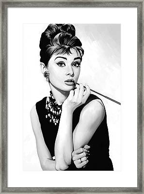 Audrey Hepburn Artwork Framed Print