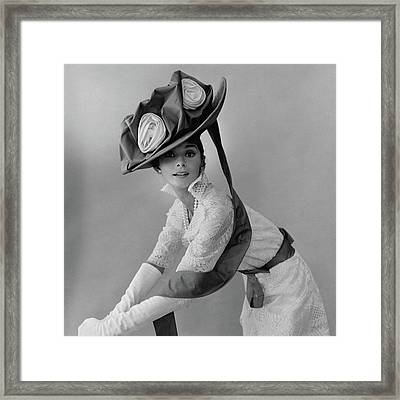 Audrey Hepburn In Costume For My Fair Lady Framed Print by Cecil Beaton