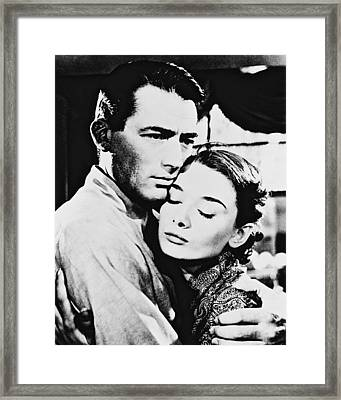 Audrey Hepburn In Roman Holiday  Framed Print by Silver Screen