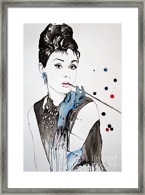 Audrey Hepburn Framed Print by Ismeta Gruenwald
