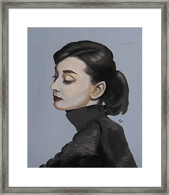 Audrey Hepburn Framed Print by Matt Burke