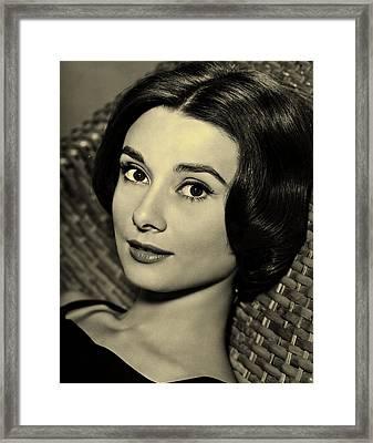 Audrey Hepburn  Framed Print by Movie Poster Prints