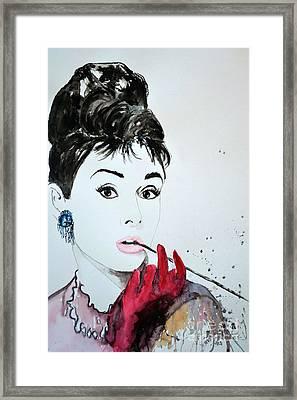 Audrey Hepburn - Original Framed Print by Ismeta Gruenwald