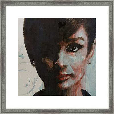 Audrey Hepburn  Framed Print by Paul Lovering