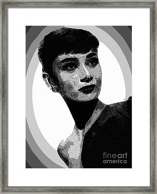 Audrey Hepburn - Pencil Framed Print by Doc Braham