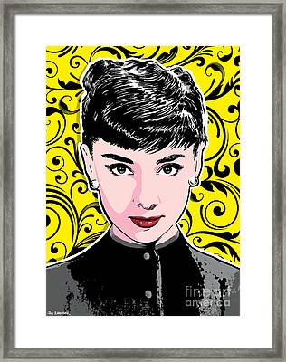 Audrey Hepburn Pop Art Framed Print by Jim Zahniser