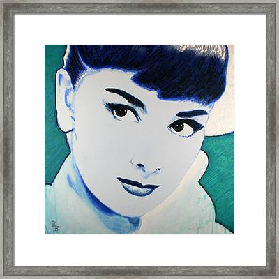 Audrey Hepburn Pop Art Painting Framed Print by Bob Baker
