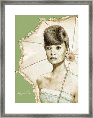 Audrey Hepburn Portrait Framed Print by Dominique Amendola