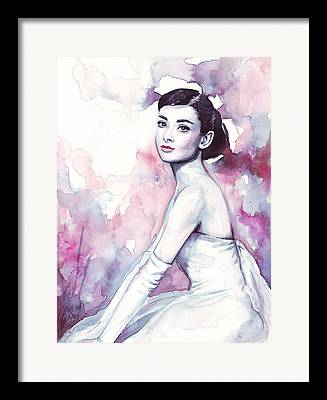 Purple Paintings Framed Prints