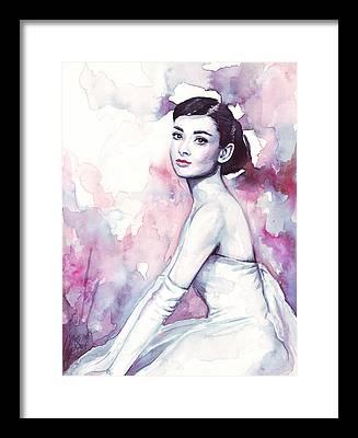 Purple Art Framed Prints