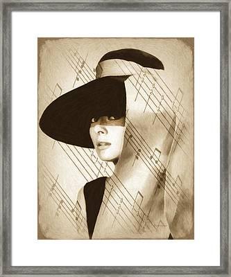 Audrey Hepburn Vintage Framed Print by Georgiana Romanovna