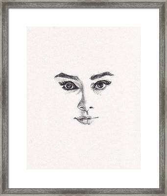 Audrey Framed Print by Lee Ann Shepard