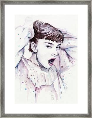 Audrey - Purple Scream Framed Print