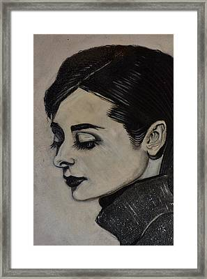 Framed Print featuring the painting Audrey by Sandro Ramani