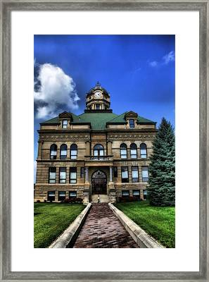 Auglaize County Courthouse In Ohio Framed Print by Dan Sproul