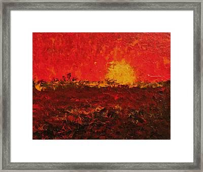 August Fields Framed Print