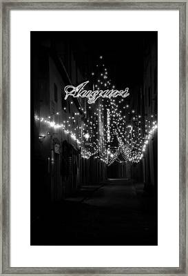 Auguri To Florence Framed Print by Visual Stenographer